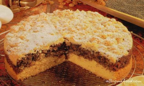 Пирог с изюмом и маком рецепт с фото