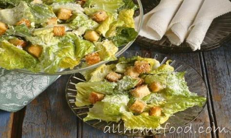 """Способ приготовления салата  """"b Цезарь/b """" b с/b b грибами/b: Салат  """"b..."""